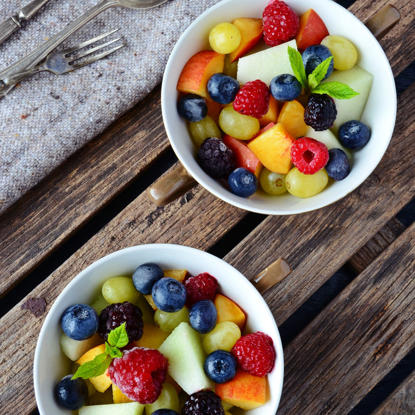 Homemade fruit and berry salad. Healthy dessert